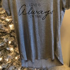 Love is always on time short sleeve shirt